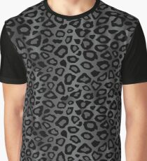 Gray Leopard Animal Pattern Graphic T-Shirt