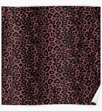 Dusty Rose Leopard Animal Pattern Poster