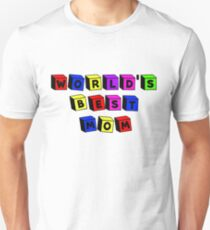 World's Best Mom Toy Blocks Unisex T-Shirt