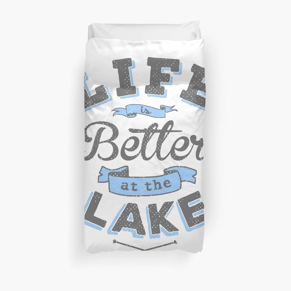 Das Leben ist besser am See im Freien Cabin Boating Fishing Bettbezug