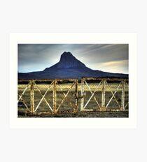cerro del bernal Art Print