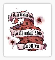 Eat chocolate chip cookies Sticker