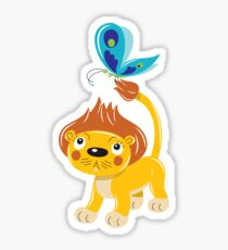 Leo and Butterfly Sticker