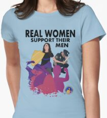 Real Women Fight Back: Police Womens Fitted T-Shirt