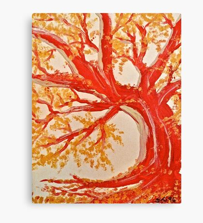 Red Tree ala Fauve Canvas Print
