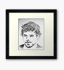 Robert Downey Jr Sketch Framed Print