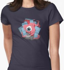 Crawling eye loses contact lens Women's Fitted T-Shirt