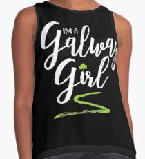 I'm a Galway Girl, white and green Contrast Tank