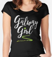 I'm a Galway Girl, white and green Women's Fitted Scoop T-Shirt