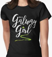 I'm a Galway Girl, white and green Women's Fitted T-Shirt