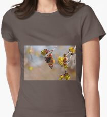 Red Admiral In Spring Womens Fitted T-Shirt