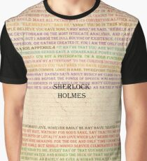 Sherlock Holmes quotes Paper Graphic T-Shirt