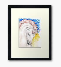 Andalusian Stallion Primary Colors Framed Print