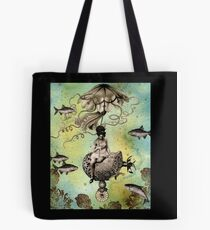 Undersea Steampunk: Aurelia & her Jelly Cruiser Tote Bag