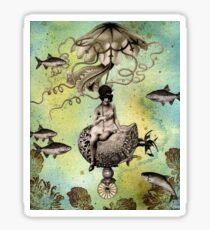 Undersea Steampunk: Aurelia & her Jelly Cruiser Sticker