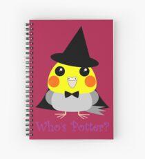 オカメインコCockatiel parrot as witch for Halloween Spiral Notebook