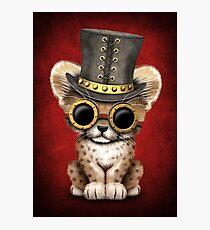 Steampunk Baby Cheetah Cub Photographic Print