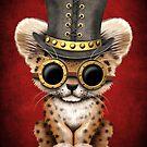 Steampunk Baby Leopard Cub von jeff bartels