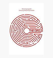 the circle logo Photographic Print