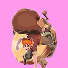 Girl of Squirrel  by chamba