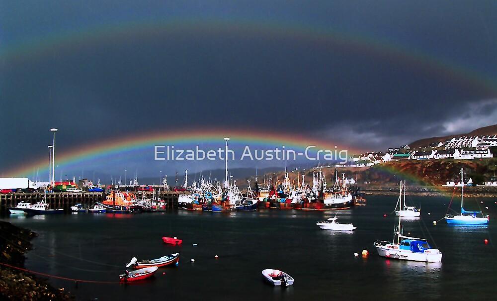 Rainbows Over Mallaig Harbour by Elizabeth Austin-Craig