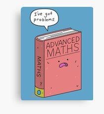 Maths Problems Canvas Print