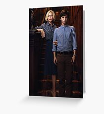 Bates Motel - Norman and Norma Greeting Card
