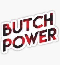 Butch Power Sticker