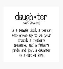 Daughter Photographic Print