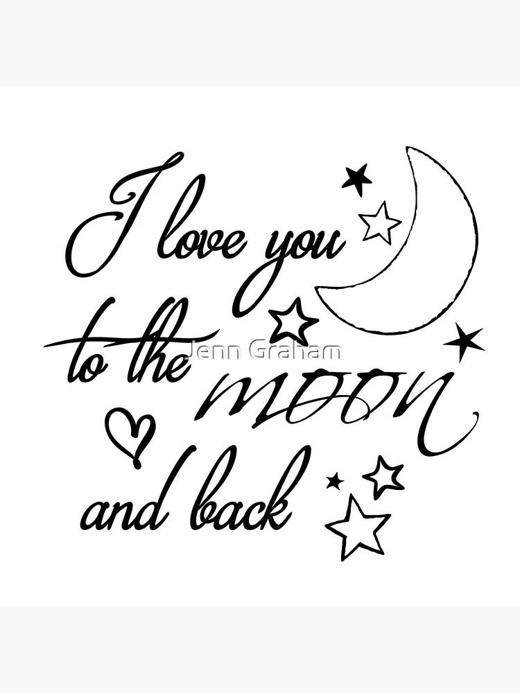 Ich liebe dich bis zum Mond von Jennstuff