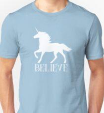 Believe in Unicorns Print Unisex T-Shirt