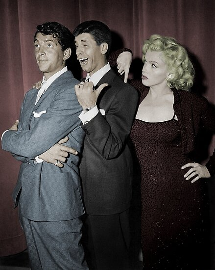 Image result for marilyn monroe with martin & lewis