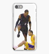 Allen Iverson Steps Over Tyronn Lue Low Poly iPhone Case/Skin