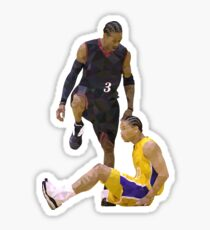 Allen Iverson Steps Over Tyronn Lue Low Poly Sticker