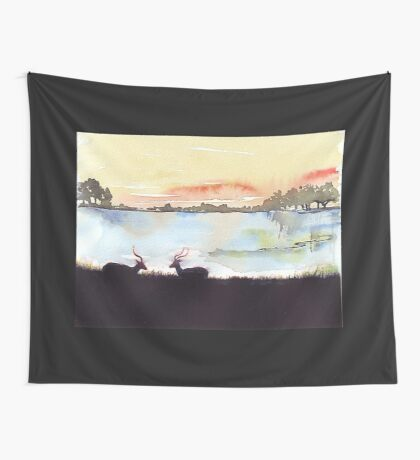 Impala in an African landscape Wall Tapestry