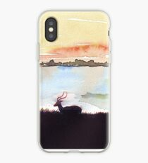 Impala in an African landscape iPhone Case