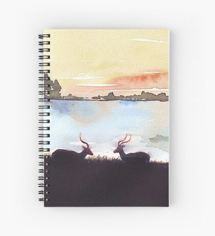Impala in an African landscape Spiral Notebook