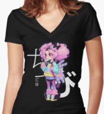 chibi Women's Fitted V-Neck T-Shirt