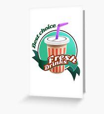 Fresh Drink Greeting Card