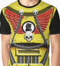 Yellow Armour with Skulls, Chains & Gauntlet Graphic T-Shirt