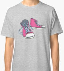 Pink Hi-top Sneakers Classic T-Shirt