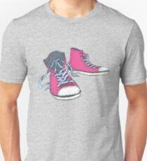 Pink Hi-top Sneakers Unisex T-Shirt
