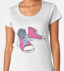 Pink Hi-top Sneakers Women's Premium T-Shirt