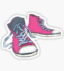 Pink Hi-top Sneakers Sticker