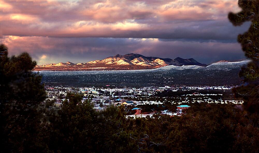 New Mexico Winter Day by Ken  Aitchison