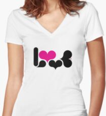 loving you Women's Fitted V-Neck T-Shirt