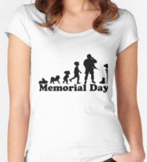 Evolution Memorial Day, Memorial Day T-shirt Women's Fitted Scoop T-Shirt