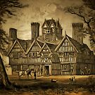 My old style digital painting of The Oak House, West Bromwich, Staffordshire 1858 by Dennis Melling