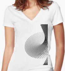 dot Women's Fitted V-Neck T-Shirt