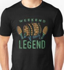 Weekend Legend Tee Shirts Love All Things Beer And Ping Pong T-Shirt T-Shirt